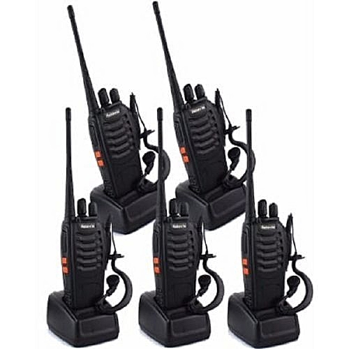 Baofeng 2-way Radio Walkie Talkie - Bf-888s- 5 Pieces- Black