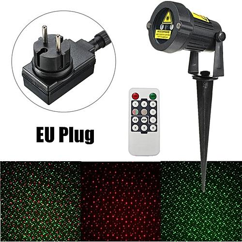 Green Red Waterproof Landscape Garden Projector Laser Xmas Stage Light Lamp EU Plug