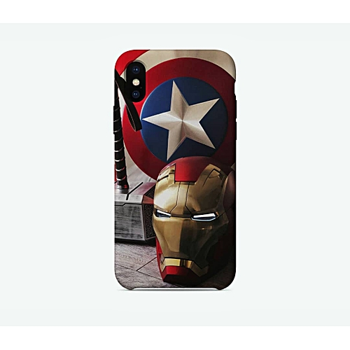 buy popular 0a8d4 77722 Iphone X Custom Made Captain America X IronMan Case