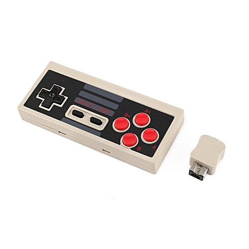 Plug And Play Wireless Turbo Controller With Receiver For NES Classic Edition Grey