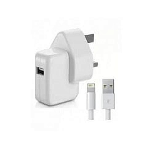 buy popular c6f15 6130b Apple Iphone Charger - 12W, 2.4A Fast Charger With Ligtning USB Data Cable  For IPhone X/8/8Plus/7/7Plus/6s/6sPlus/6/6Plus/SE/5s/5, IPad ...
