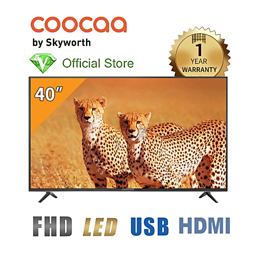 "40"" LED FHD TV + Free Wall Bracket -Black - Made By Skyworth"