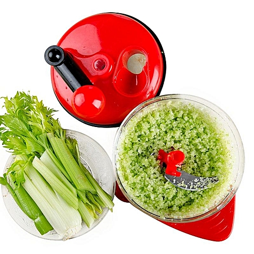 KCASA KC-FPM20 Multifunction Vegetable Chopper Food Processor Kitchen Manual Fruit Chopper Cutter Mixer Salad Maker Eggs Stirrer Shredders