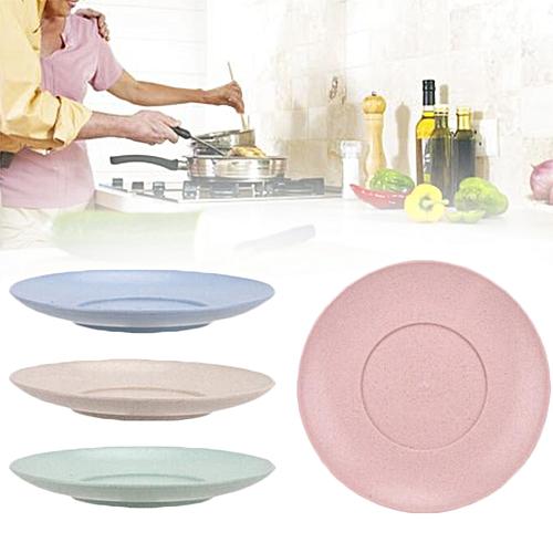 Plates Wheat Straw Dish Plate Healthy Unbreakable Home Garden Kitchen Dinner