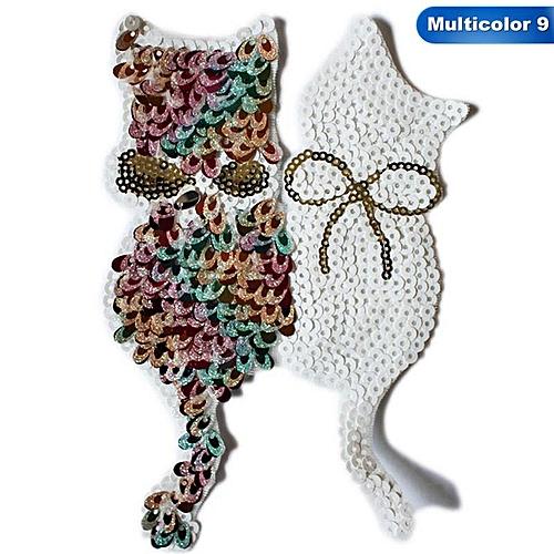 Eleganya Creativity Cute Cartoon Sequins Colorful Fashion Fine Small Cloth Stickers -9