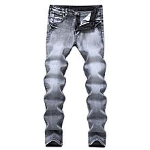 4682955a032 Men Jeans Retro Nostalgia Straight Denim Jeans Men Casual Long Pants  Trousers Brand Biker Jean-