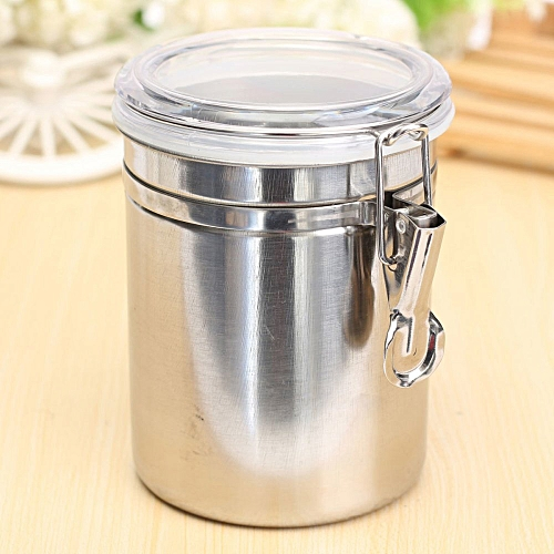 Stainless Steel Airtight Sealed Canister Coffee Flour Sugar Tea Container Holder Large