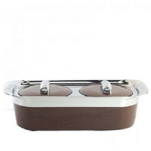 Two In One Food Warmer - Brown