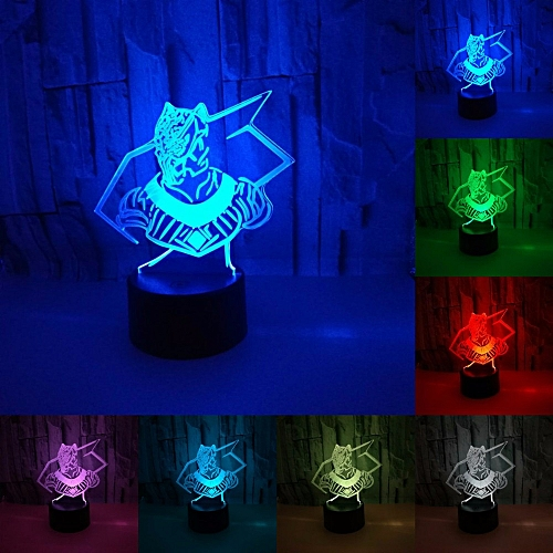 Iy Black Panther Superhero 3d Lamp Led Night Light Lamp Led Remote