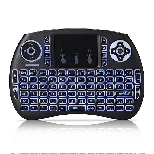 Mini 2.4GHz Wireless QWERTY Keyboard Portable Hand-Held With Touchpad & Backlight For PC / Smart TV /Android TV Box