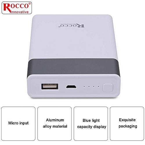 10,400mAh Power Bank R5107- Single USB Port - White Grey