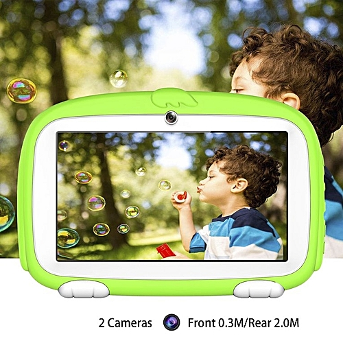 TA 7 Inch Children Learning Education Tablet PC 1GB RAM+8GB ROM For Android 6.0 Green Green