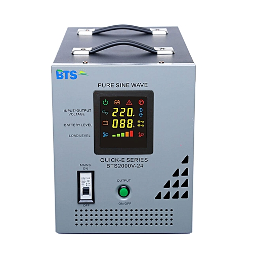 BTS Energy BTS Energy QUICK E 2.0KVA - 24V Inverter With Selectable Depth Of Discharge Button.