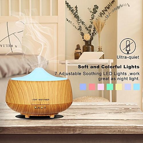 Ultrasonic Smart Mute Home Aromatherapy Machine Office Desktop Air Purifier Mini Wood Humidifier