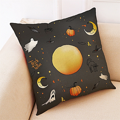 Whiskyky Store Home Decor Cushion Cover Happy Halloween Throw Pillowcase Pillow Covers-Multicolor