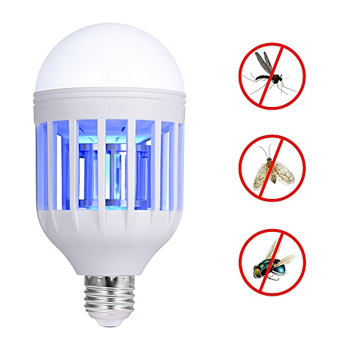 Mosquito Killer Lamp, Bug Zapper Light Bulb, Electronic Insect Killer, Fits In E26/E27 Light Bulb Socket, Mosquito Trap Night Lamp For Indoor Outdoor Porch Deck Patio Backyard