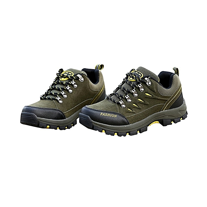 7d3ae87ecdc94 Outdoor Leather Scrub Waterproof Mountaineering Shoes Women Hiking Boots