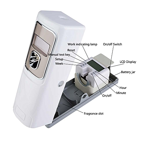 LCD Display Timer Wall-mounted Automatic Air Freshener Fragrance Aerosol Spray Dispenser