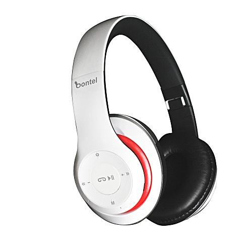 P15-headphone. Wireless Bluetooth Headphone. Support Wireless Fm, MP3, Memory Card. Amazing Product - White