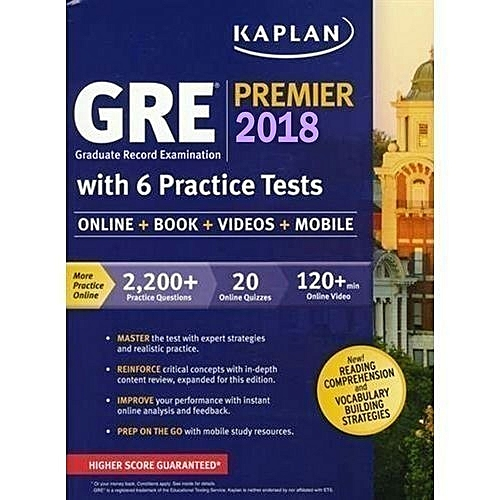 GRE Premier 2018 With 6 Practice Tests (Book + Online + DVD + Mobile )