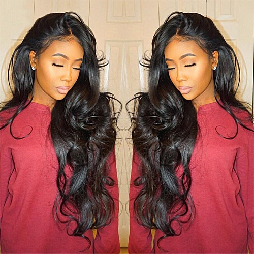 Generic Curly Wig Glueless Full Lace Wigs Black Women Indian Remy Human  Hair Lace Front 5a0af7ecd085