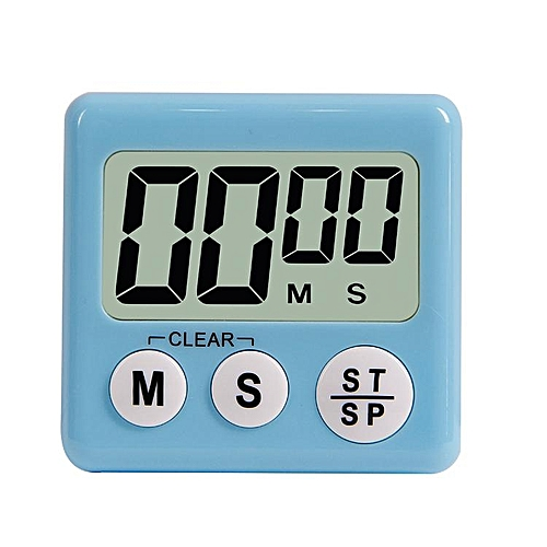 Multifunction Digital Kitchen Cooking Timer With Switch To Adjust Volume Countdown With Big Digits Loud Alarm Automatic Shutdown # Blue