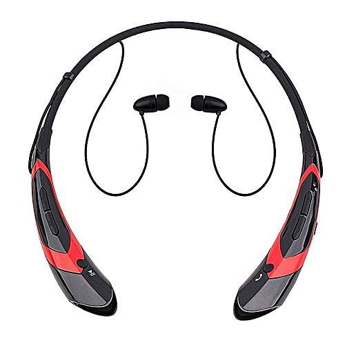 LINCOLN DIGITAL Bluetooth Headphones Bluetooth Headsets Wireless Hand-free Neckband Earbuds For Sport/running/exercise Lightweight Sweat-proof Noise Cancelling Earbud For Cell Phones(Black Red)