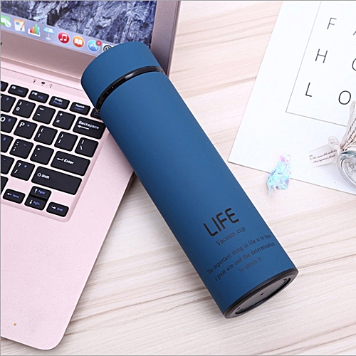 Portable 304 Stainless Steel Vacuum-Insulated Mug Cup For Outdoor Travel Blue