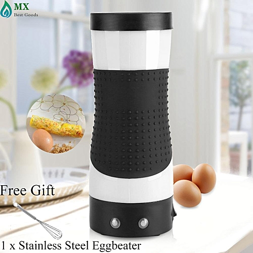 [free Gift] Electric Eggroll Maker Egg Roll Boiler Automatic Omelette Sausage Frying Cooking Tool Cup White