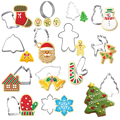 Christmas Style Cookie Stainless Steel Mold 14 Pieces Set
