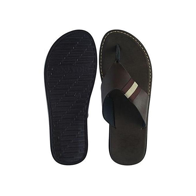 2045863f5 Fashion Men s Derby Zebra Slippers - Brown