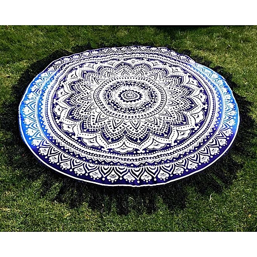 Round Hippie Tassel Tapestry Beach Throw Mandala Towel Yoga Mat Bohemian