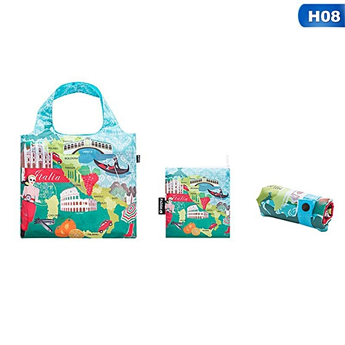 Eco Friendly Shopping Bags Waterproof Travel Custom Reusable Handbag Women Shoulder Cloth Pouch Foldable H08