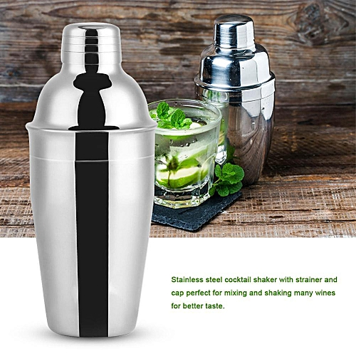550ml Stainless Steel Cocktail Shaker Barware Bar Mixing Making Drinking Container Tool