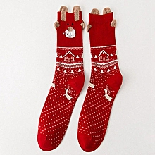dd7e092ba Women Sock Winter Warm Christmas Gifts Stereo Socks Soft Cotton Cute Santa  Claus Deer Socks Xmas