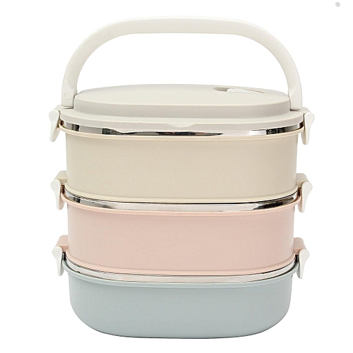 3 Tier Stainless Steel Portable Lunch Bento Box Insulated Thermal Food Container