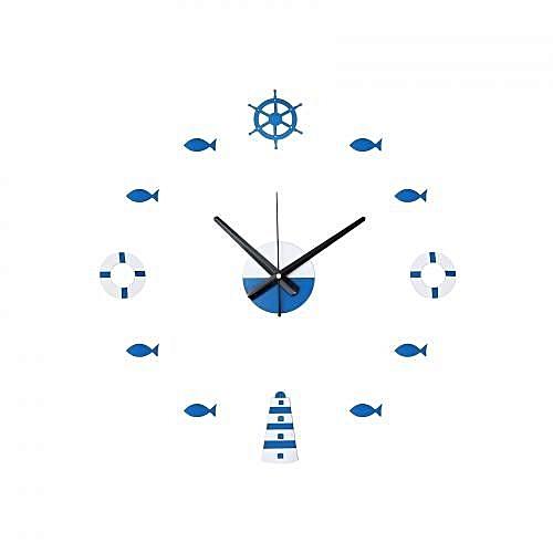 DIY Wall Stick Clock Mediterranean Style