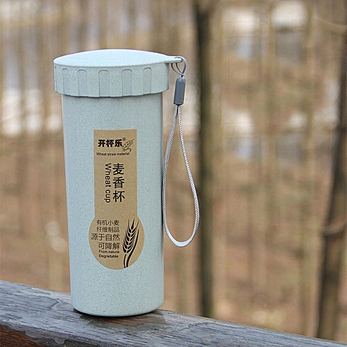 450ml Nature Wheat Straw Portable Water Bottle Drink Container Cup Mug