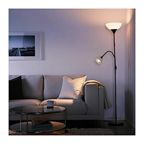 IKEA Floor Lamp Lighter/reading Lamp, Black, White (Black)