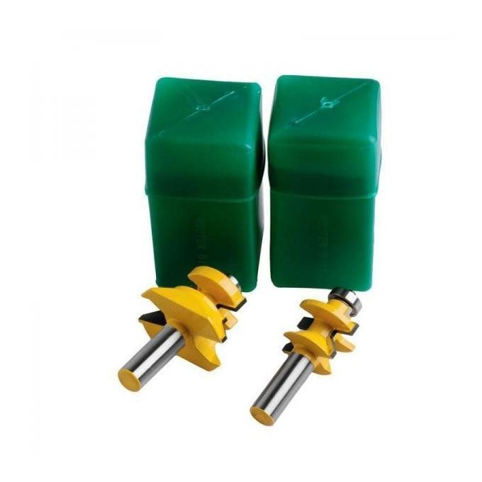 Footful 2piece Matched Tongue Amp Groove V Notch 45 Degree Router Bit Set Tool Buy Online