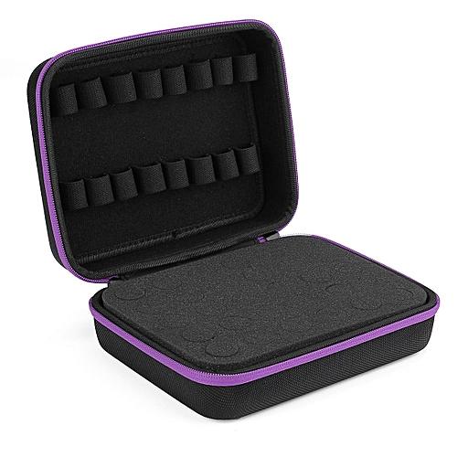30 Bottle Aroma Essential O Il Storage Case Travel Portable Carrying Bag AU Stock - Purple Zipper