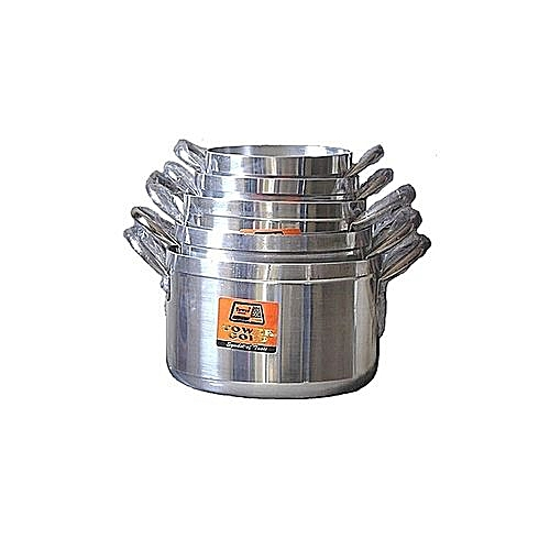 Tower Cooking Pot Set - 5 Pieces - Silver