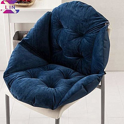 Soft Seat Cushion Back Cushion Surrounded By Lovely Office Chair Shell Cushion--NAVY BLUE