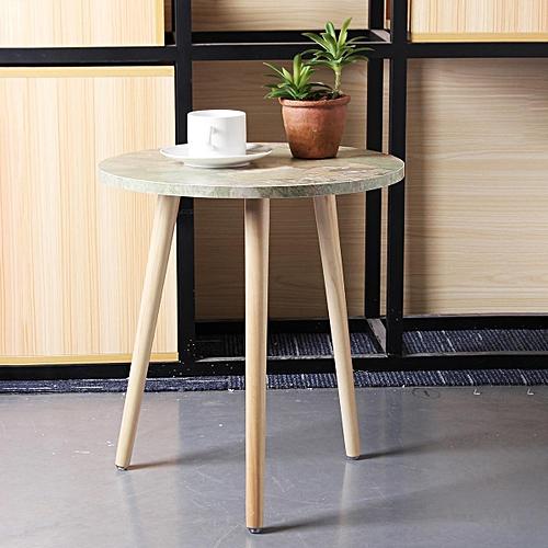 Modern Wood Round Coffee Snack Side End Tea Table Bedside Hallway Furniture