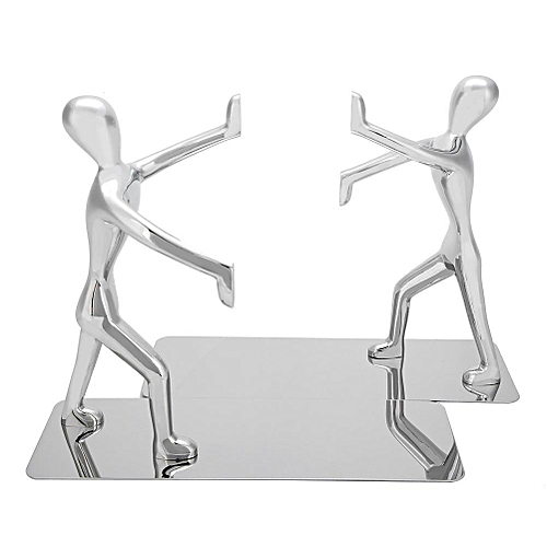 1 Pair Kung Fu People Shape Bookends Students Book Stand For School Home Table Decoration