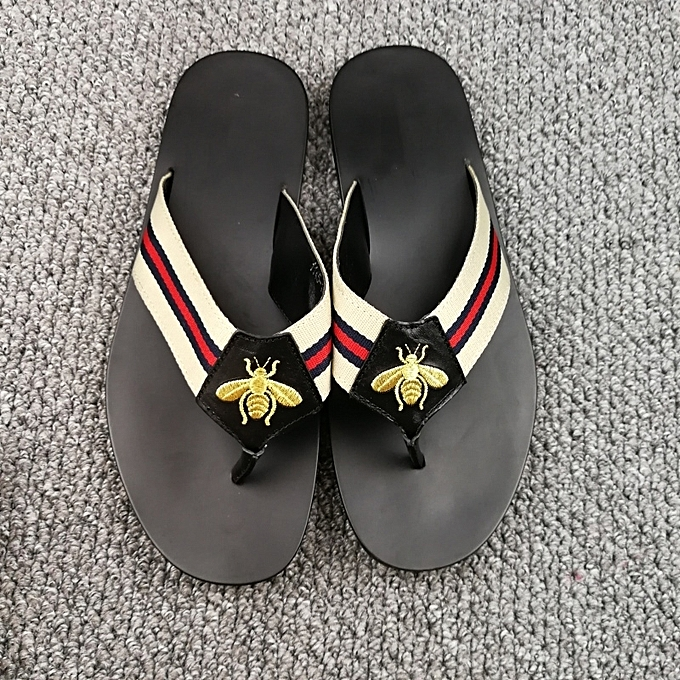f72483d5b158 ... New Leisure Male Sandals Comfortable Summer Leather Slippers Men Size 38 -46 Black
