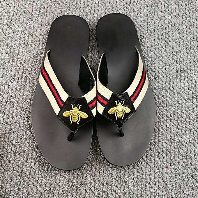 4e2aba1c08c5e6 ... New Leisure Male Sandals Comfortable Summer Leather Slippers Men Size  38-46 Black