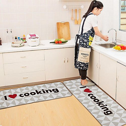 Upgrade Modern Super Soft Non-slip Kitchen Mats Door Mats Bedroom Carpets 50*180cm