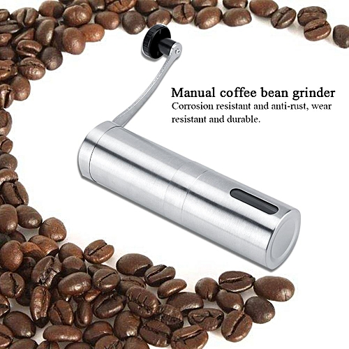 304 Stainless Steel Coffee Mill Manual Coffee Bean Grinder Portable Pepper Spice Grinding Tool