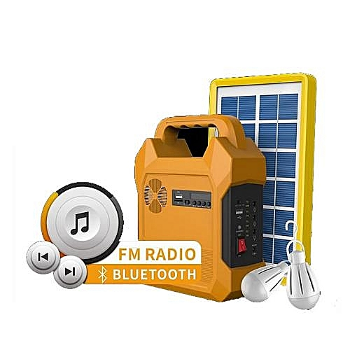 Solar Powered Lighting Kit With Music Player